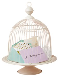 BHLDN White Birdcage Envelope Holder - Other