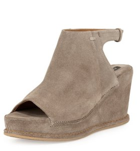 Alberto Fermani Open Toe Suede Leather Platform San37 Wedges