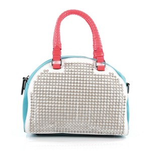 Christian Louboutin Leather Spikel Satchel