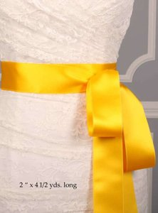 Marigold Yellow Ribbon Sash