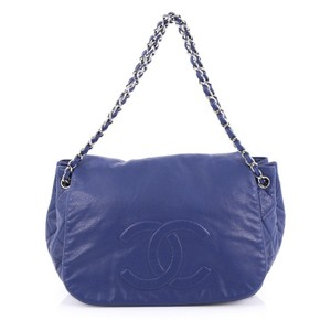 Chanel Leather Satchel in Blue