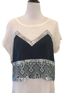 sass & bide Top Cream and Black