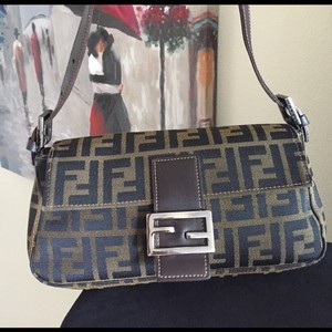 Fendi Zucca Zucca Satchel in Black and brown