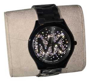 Michael Kors NEW Authentic Black and Silver Michael Kors Watch