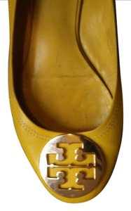 Tory Burch Soft Comfortable Bright Leather Chic Yellow Flats