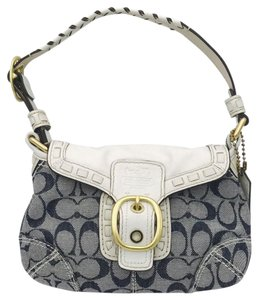 Coach Signature Satininterior Softburnishedleather Classic Shoulder Bag