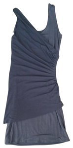 Vivienne Tam short dress Slate blue on Tradesy