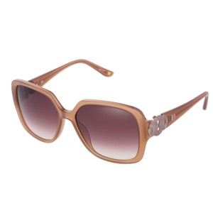 Escada Brand New ESCADA 270M Women Dark Beige Square Fashion Sunglasse