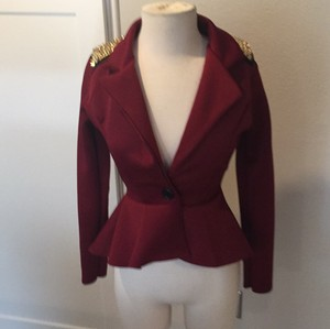 miss blush deep red Blazer