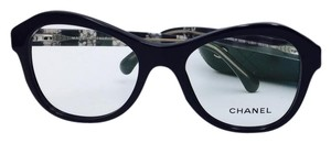 Chanel Impressive Black Lace Chanel Eyeglasses 3299 c.501 52
