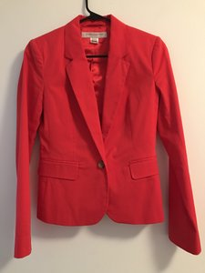 French Connection Cotton Elatane Red Blazer