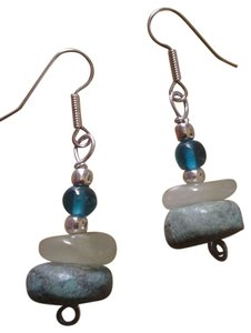 Handmade NEW Handmade Genuine Turquoise and Serpentine Beaded Dangle Drop EARRINGS Buy3Get1 Free!