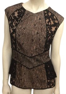 BCBGMAXAZRIA Top Black/Cream