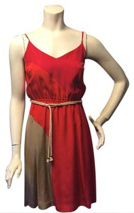Beth Bowley short dress red tan on Tradesy