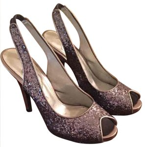 Nina Shoes Silver Glitter Pumps