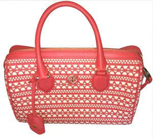 Tory Burch Satchel in Coral and White