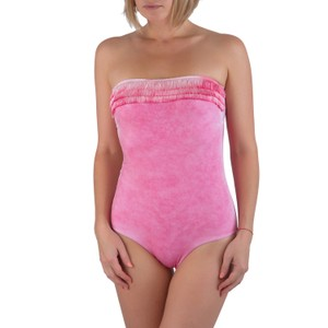 Pin-Up Stars NEW Pin-Up Stars Pink Bandeau One Piece Fringe Swimsuit ITALY S / 42