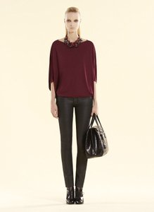 Gucci Womens Viscose Top Bordeaux