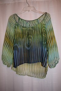 Charlotte Russe Top Green, Blue, Yellow