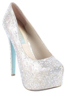 Betsey Johnson Gold, Multi, Iridescent Platforms