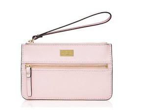 Kate Spade Bee Leather Wristlet in POSY PINK