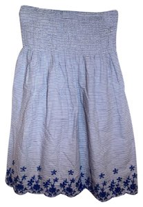 Timing short dress white/blue on Tradesy