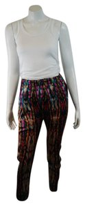 Sandro Cropped Cocktail Silver Dress Skinny Pants multicolor