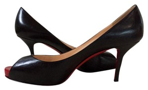 Christian Louboutin Peep Toe Louboutin 85mm black Pumps