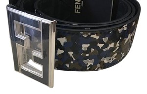 Fendi Fendi Reversible Peekaboo /Zucca-Print Enamel-Buckle Belt (Men)