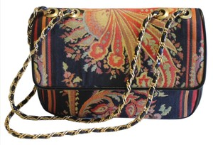 Casleigh Leather Tapastry Shoulder Bag