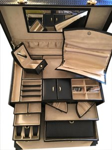 Other Brand New Huge Leather Jewelry Box Trunk Full of Accessories