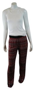 Sandro Batik Print Flowy Calypso Anthropologie Straight Pants multicolor