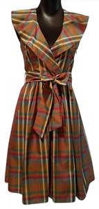 Max and Cleo Plaid Belted Plaid Belted Dress