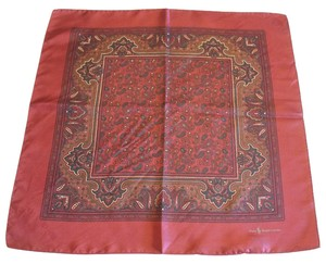 Polo Ralph Lauren POLO by Ralph Lauren Silk Small Square burgundy Paisley Scarf