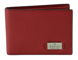 Gucci GUCCI 352354 Men's Leather Bifold Wallet, Tabasco