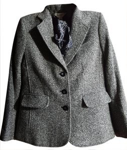 L.L.Bean Gray tweed Blazer