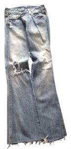 7 For All Mankind Ripped Relaxed Fit Jeans-Medium Wash