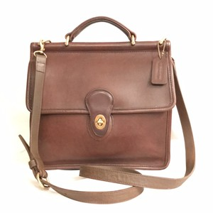 Coach Leather Vintage Cross Body Satchel in Brown