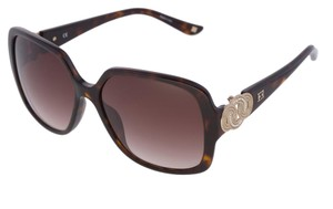 Escada New ESCADA SES 270 722 Women Brown Square Oversized Sunglasses