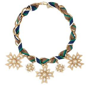 Tory Burch Selma Short Ribbon Statement Necklace