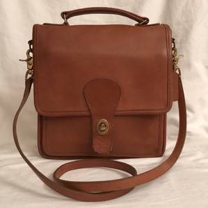 Coach Vintage Leather Cross Body Satchel in Brown