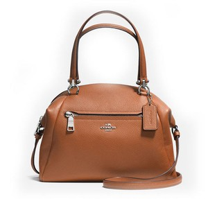 Coach 34340 Prairie Silver Satchel in SADDLE