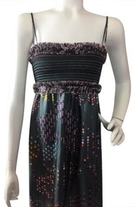M Missoni short dress Charcoal Gray With Multi-Colors M 100% Silk Knee-length Tube Top Spaghetti Straps on Tradesy