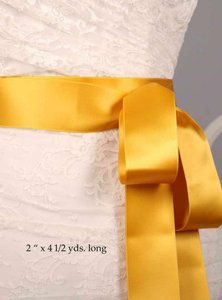 Yellow Gold Ribbon Sash 2