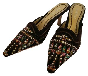 Matisse Brown with colorful beads and sequins Mules