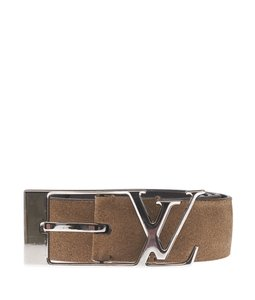 Louis Vuitton Louis Vuitton Beige Suede Belt, Size 36 (114045)