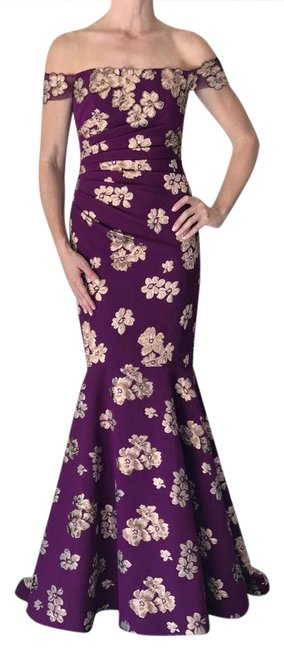 Item - Orchid Ruched Off-the-shoulder Gown Long Formal Dress Size 0 (XS)