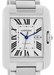 Cartier Cartier Tank Anglaise Steel Automatic Mens Watch W5310009 Unworn