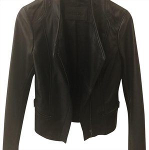 Whet blu Leather Jacket