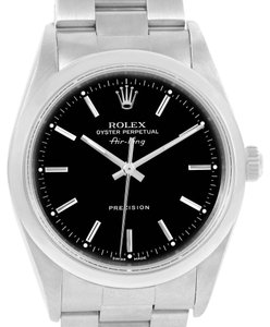 Rolex Rolex Air King Black Dial Steel Mens Watch 14000 Box Papers